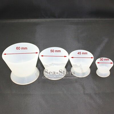 NEW BAND 4 Pcs/Set Dental Lab Silicone Mixing Bowl Cup High Quality