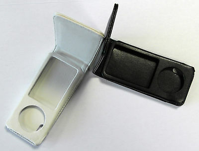 White Or Black Flip Leather Case Cover For Apple ipod Nano 5G 5th Generation