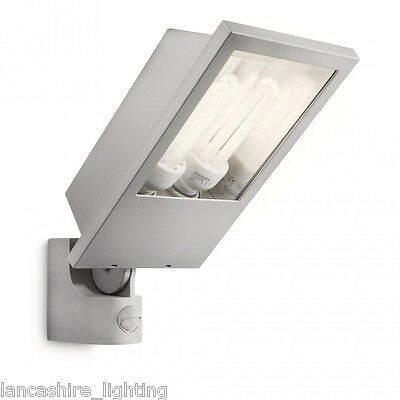 Powerful Outdoor Floodlight Wall Light Low Energy With PIR Sensor IP44 - Philips