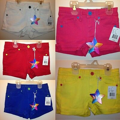 YMI Girls Short Jeans Shorts Yellow Pink Blue Red White 4 5 6 7 8 10 12 16 $26