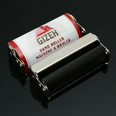 GIZEH 70mm Metal Easy Handroll Cigarette Tobacco Rolling Machine NEW