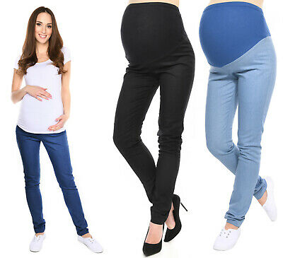 Maternity Trousers Skinny Jeans Pants Denim Over Bump size UK 8 10 12 14