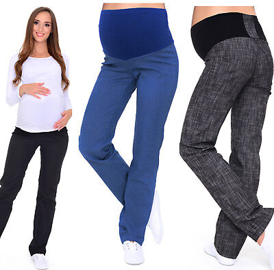 Maternity Trousers Jeans classic straight cut Denim Over Bump size UK 8 - 18