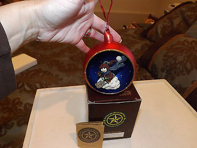 Boyds Bears & Friends Folkstone Jacques Starlight Skier Christmas Ornament