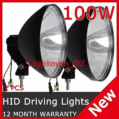 2PCS  9 INCH 100W 240mm HID XENON Driving Spot lights Working OFF ROAD UTE JEEP