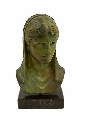 Ancient Greek Olympea Olympia Bronze statue bust sculpture artifact