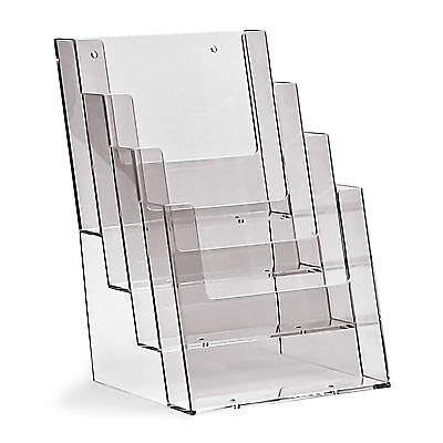 Taymar 4 Tiered A5 Pocket Portrait Brochure Holder Freestanding  Menus Specials