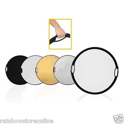 """5-in-1 110cm 43"""" Handheld Multi Collapsible Photograph Studio Light Reflector"""