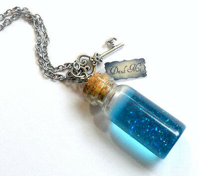 Alice In Wonderland Drink Me Bottle Charm Necklace,  Cute, Kawaii :D