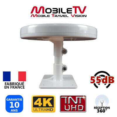 ANTENNE TV 55dB OMNIDIRECTIONNELLE TNTHD TNTUHD ULTRAHD POUR CAMPING CAR CAMION