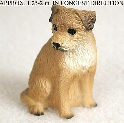 Border Terrier Mini Resin Hand Painted Dog Figurine
