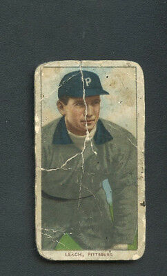 1909 -1911 T206 Tommy Leach Polar Back Pittsburg RARE Vintage Tobacco Card