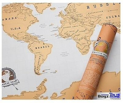 LARGE Scratch Map, Travel Atlas, Personalised World Map, Great Gift Christmas