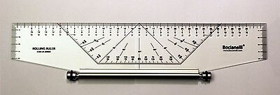 350mm 35cm Professional Metric Parallel Rolling Ruler Rule Drawing Glider