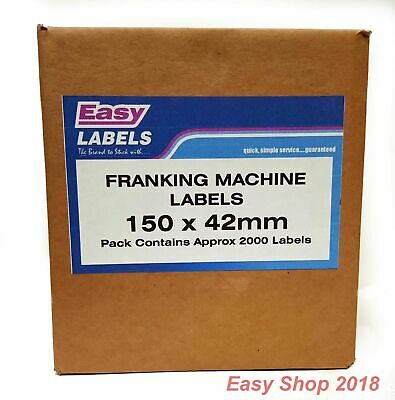 Franking Machine Mailing Labels Pitney Bowes, Neopost, 500, 1000, 2000 per pack