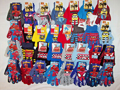 1pr sonic,bart simpson,spiderman,minions or disney cars gloves.approx.4-8yrs.