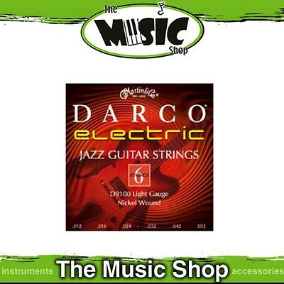 Darco by Martin Electric Guitar Strings 12-52 Jazz Light - D9100
