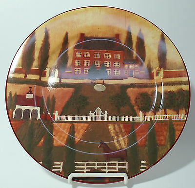 """BLOCK china COUNTRY VILLAGE Round Chop Plate Serving Platter @ 12 1/4"""""""