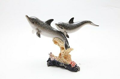 Glazed Dolphin and Coral Figurine YX9910