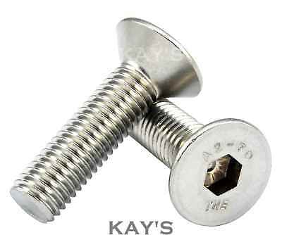 M4 M5 M6 M8 M10 Countersunk Bolt Csk Allen Key Socket Screws A2 Stainless Steel