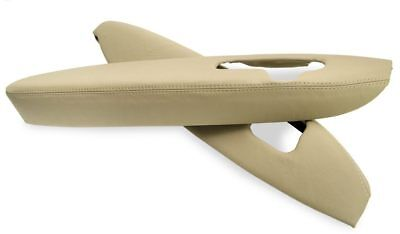 Door Panel Armrest Leather Synthetic Cover for Acura RL 05-12 Beige