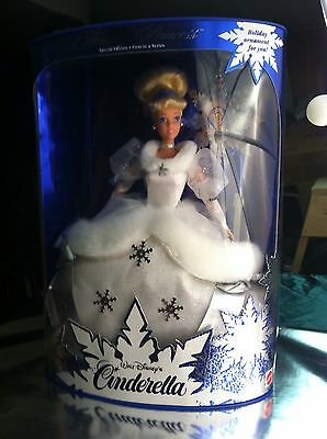 Disney Cinderella Holiday Princess 1996  Doll 1st In Series NRFB New Old Stock