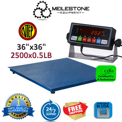 New 2500lb/0.5lb 3'x3' Heavy Duty Floor Scale w/ PS-IN202 Indicator