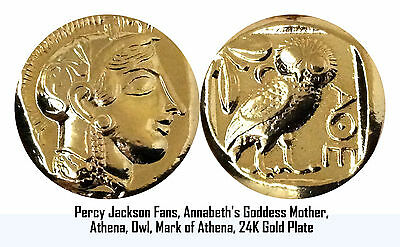 Unique Holiday Gift for Percy Jackson Fans, Mother of Annabeth, Athena/Owl 12-G