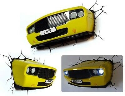 3D DECO Muscle Car Light - Yellow