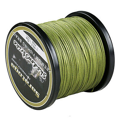 8Strands 500M Army Green Super Strong Dyneema Saratoga Braided Sea Fishing Line