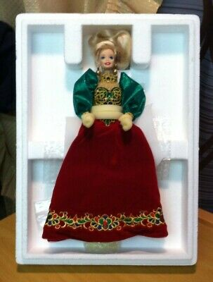 1995 Holiday Jewel Barbie Porcelain Doll With Orig Box Plus Shipper Box NRFB/NOS