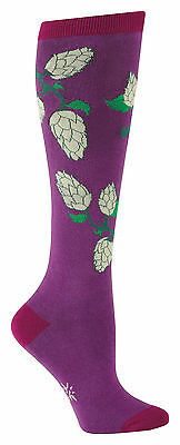 Sock It To Me Women's Knee High Socks - Purple Hops