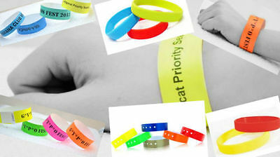 """100 PLAIN 3/4""""  Tyvek Wristbands, Security, ID, Party, Events, Sporting Events"""