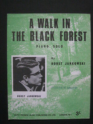 A WALK IN THE BLACK FOREST - 60's original Sheet Music - HORST JANKOWSKI