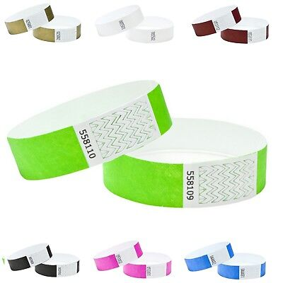 """1000 PLAIN 3/4"""" Tyvek Wristbands, Events,Parties,Security Control,ID,Bands"""
