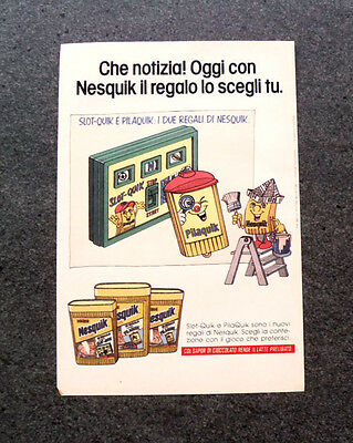SLOT-QUICK E PILAQUIK TOP989-PUBBLICITA/'//ADVERTISING-1989 NESQUIK