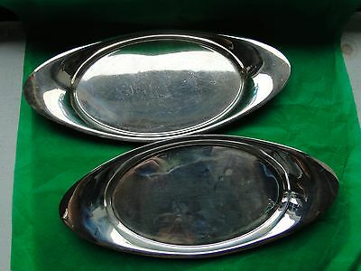 Oval Dishes, Sterling Silver , Sheffield 1932, Marked, Art Deco, Simple Shape