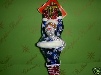 Christopher Radko Tight Squeeze Glass Ornament