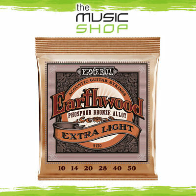 10 x Ernie Ball 2150 Studio Bronze Extra Slinky Acoustic Guitar Strings 10-50
