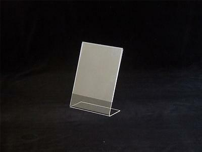 A4 Acrylic Perspex Leanback Menu Holder - Holds Single Page