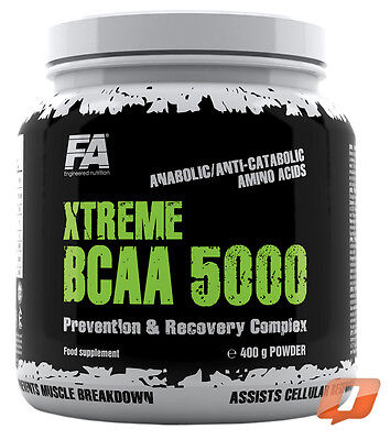 FA NUTRITION FITNESS AUTHORITY XTREME BCAA 5000 400g POWDER AMINO COMPLEX RECOVE