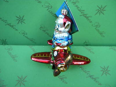 Christopher Radko Elf Express Glass Ornament