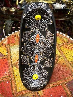 Authentic Moroccan Berber wooden /metal plate handmade home decor
