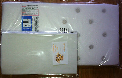 DOLLS COACH PRAM MATTRESS + FITTED COTTON SHEET - Silver Cross Chatsworth spares