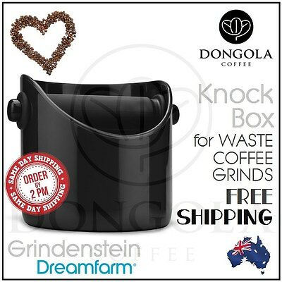 BLACK COFFEE KNOCK BOX Grindenstein Dreamfarm Espresso Grinds Tamper Waste Bin