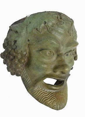 "Bronze mask of Bacchus ""the liberator"" sculpture artifact"