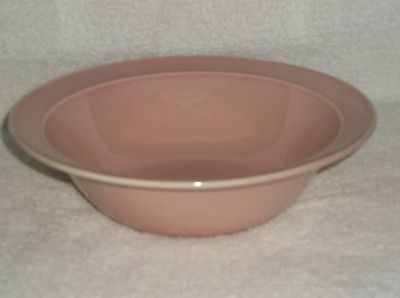 """T.S.& T. LuRay Pastel Sharon Pink 8.75"""" Serving Bowl with Rim"""