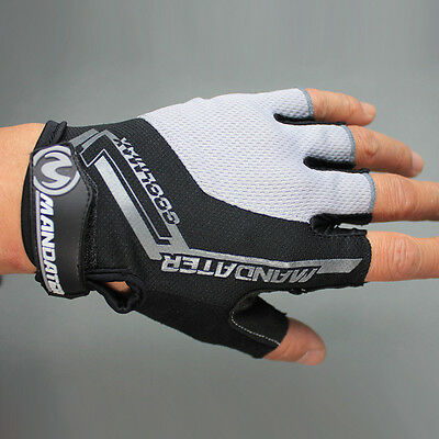 Black New Practical Professional Cycling Bike Bicycle Half Finger Glove S/M/L/XL