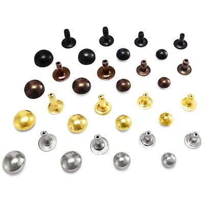 Domed single cap rivets 9 mm 10 mm or 12 mm cap diameter Studs Sewing Leather