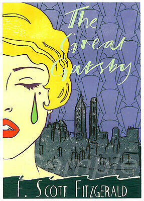VINTAGE THE GREAT GATSBY by F SCOTT FITZGERALD POSTER A4 PRINT